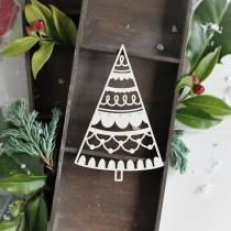Chipboard - Christmas Tree 04
