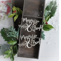 Chipboard - Merry & Bright...