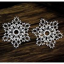 Chipboard - Snowflakes 2pcs