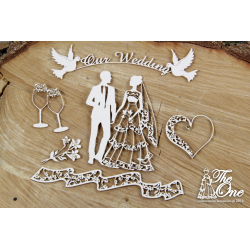 Chipboard - Wedding & Love, frame