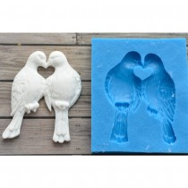 Silicone Mold - Two pigeons