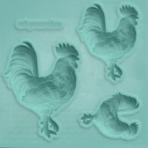 Silicone Mold - Roosters