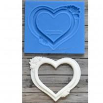 Silicone Mold - Heart Frame...