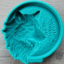Silicone Mold - XXL Panel Wolf