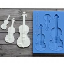 Silicone Mold - Violins