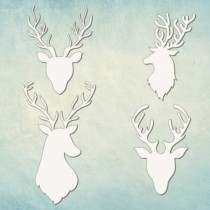 Chipboard -  Deer 4pcs