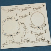 Chipboard - Frames and bows