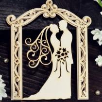 Chipboard - Bride and Groom...
