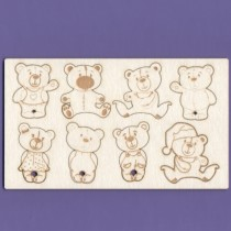 Chipboard - TEDDY BEARS family