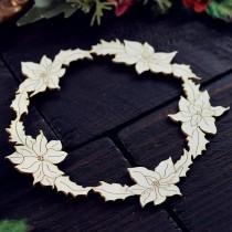 CHIPBOARD - Poinsettia wreath