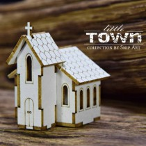 Chipboard 3D- LITTLE TOWN-...