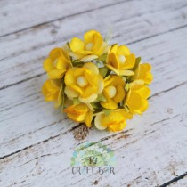 Mini paper flowers - YELLOW