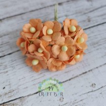 Mini paper flowers - PEACH