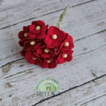 Mini paper flowers - RED