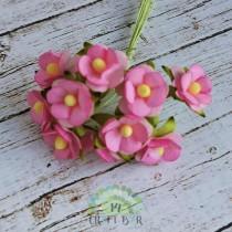 Mini paper flowers - PINK