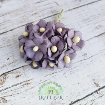 Mini paper flowers - PURPLE
