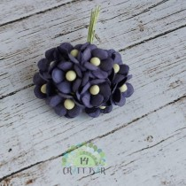 Mini paper flowers - PLUM