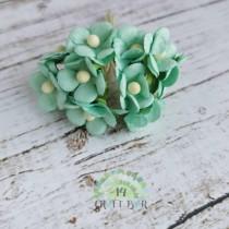 Mini paper flowers - MINT
