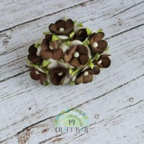 Mini paper flowers - BROWN...