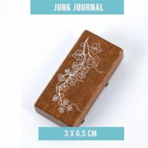 Junk Jurnal Rubber Stamp - IVY