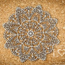 Chipboard - Rosette Coral...