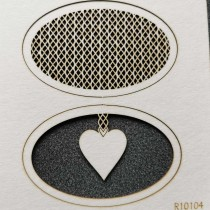 Chipboard - OVAL DECOR HEART