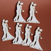 Chipboard - Set of bride...