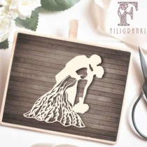 Chipboard - Bride and Groom 03
