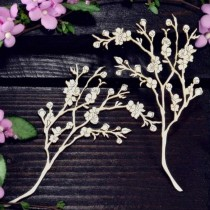 Chipboard - Cherry twigs 2pcs