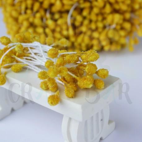 Micro-beads stamen 5 mm-YELLOW