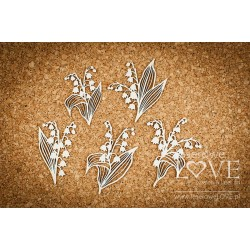 Chipboard - Bouquets of lily of the valley/5pcs