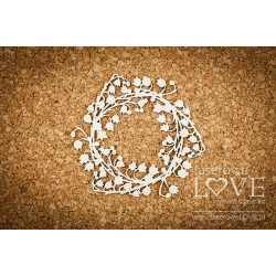 Chipboard - Lily of the valley wreath