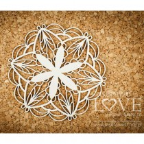 Chipboard - Small rosette -...
