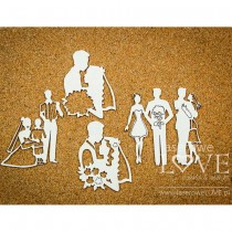 Chipboard - Our Wedding -...