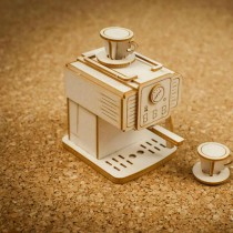 Chipboard 3D - Retro coffee...