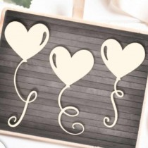 Chipboard - Hearts Balloons...