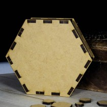 MDF 3d - HEXAGON 10cm