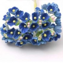 Small Flowers - BLUE WITH...