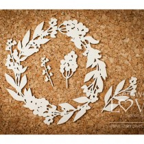 Chipboard - Flora frame...