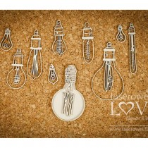 Chipboard - Set of light bulbs