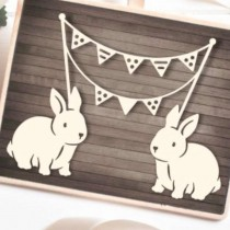 Chipboard - Bunnies with...