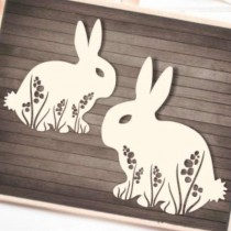 Chipboard - Bunnies in the...