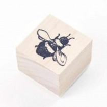 Junk Jurnal Rubber Stamp - Bee