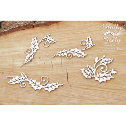 Chipboard - Holly Jolly - branches