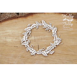 Chipboard - Holly Jolly - small wreath