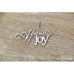 Chipboard - A bundle of joy - text