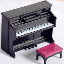 Miniature - PIANO with STOOL