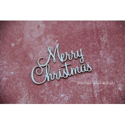 Chipboard - Merry Christmas - text