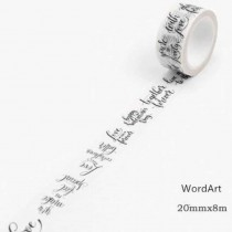 Washi Tape - WORD ART - 2cm...