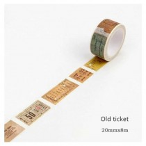 Washi Tape - OLD TICKET -...